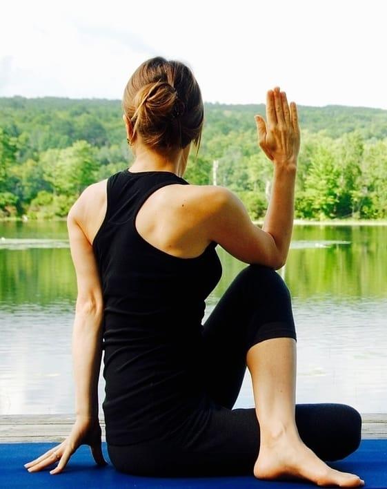 Ardha-Matsyendrasana yoga twists to beat constipation