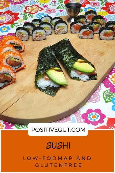 Sushi low fodmap and gluten