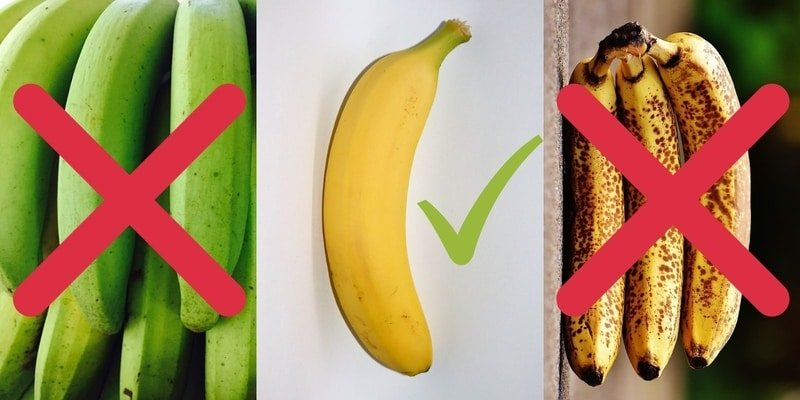 low fodmap diet green bananas
