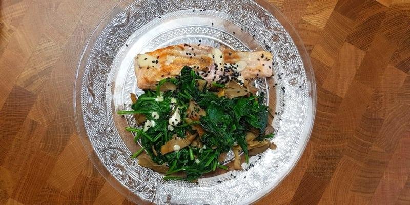 FODMAP Sesame Salmon and Vegetables