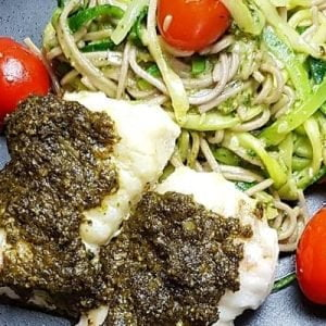 FODMAP pasta pesto