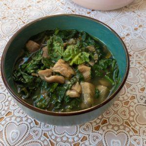 Low FODMAP oyster mushroom soup