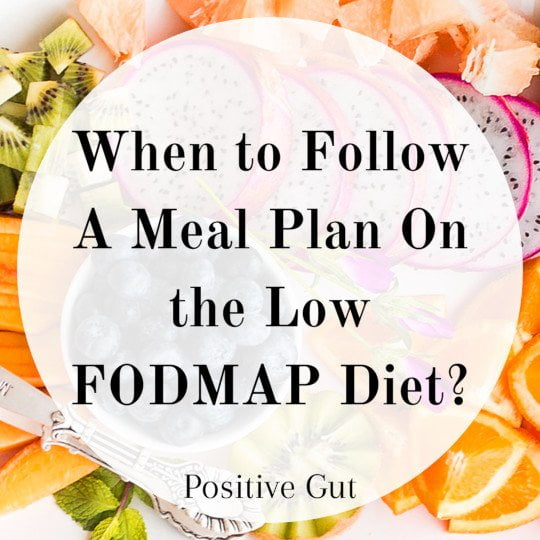 FODMAP week menu